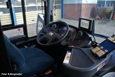 De chauffeurscabine van een Lions City TÜ.